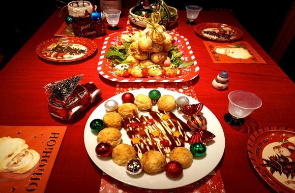 たこ焼きでクリスマスパーティー
