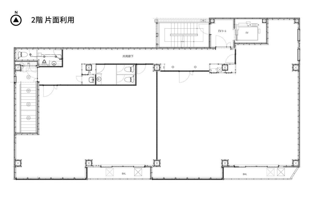 2階片面利用図面
